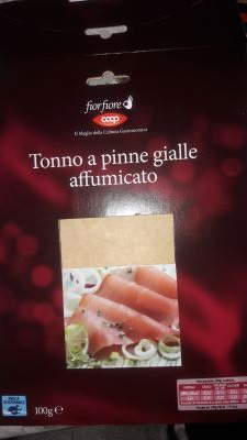 Tonno a pinne gialle affumicato